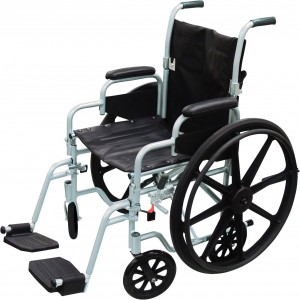 "Drive Poly-Fly High Strength, Lightweight Wheelchair/Flyweight 18"" Seat, Transport Chair Combo Model: TR18"