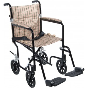 DRIVE Deluxe Fly-Weight Aluminum Transport Chair Model # FW19DB