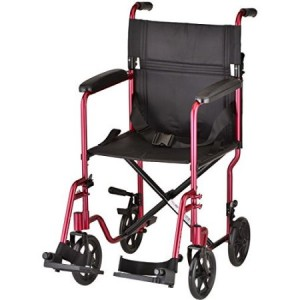 "NOVA Transport Wheelchair Lightweight 19"" Seat Width Model 329"