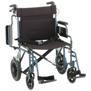 NOVA Transport Wheelchair Extra-Wide with Flip Back Arms Model # 332